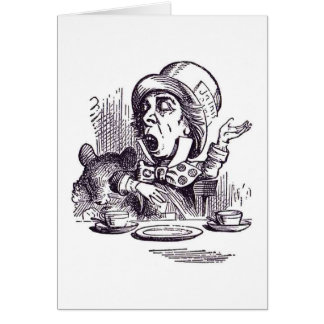 Mad Hatter Note Card