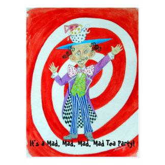 """""""Mad Hatter"""" Orig. Art Postcard"""