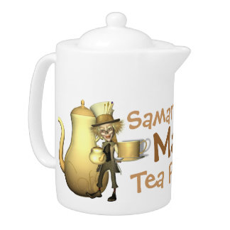 Mad Hatter Personalized Teapot