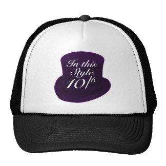 Mad Hatter - Purple Mesh Hats