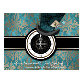 Mad Hatter Save the Date Postcard