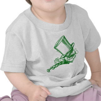 Mad Hatter Striding Right Inked Green T-shirts