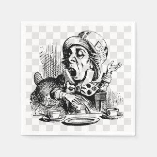 Mad Hatter Talking Disposable Serviette