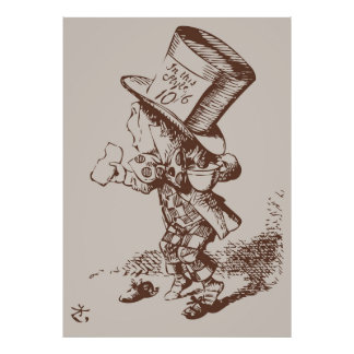 Mad Hatter Tea Colored Poster