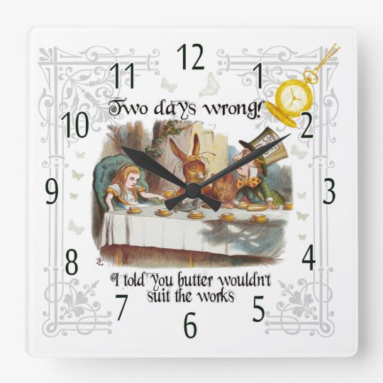Mad Hatter Tea Party clock, Butter in the