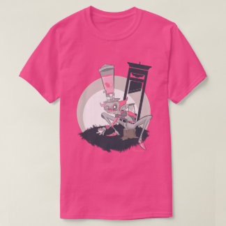 Mad Hatter Tea Party Graffiti Character Pink T-Shirt