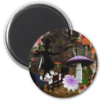 Mad hatter tea party magnet