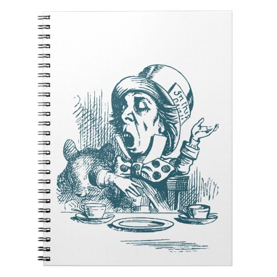 Mad Hatter Tea Party Notebooks