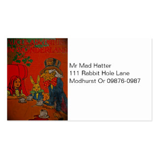 Mad Hatter Tea Party Pack Of Standard Business Cards