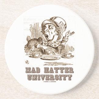 Mad Hatter University (Wonderland Mad Hatter) Sandstone Coaster