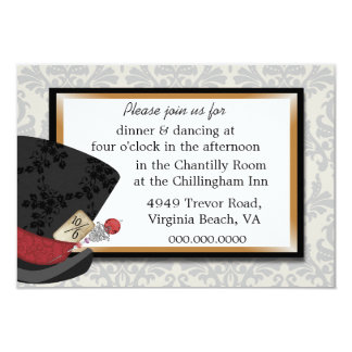 Mad Hatter Wedding Reception Card 9 Cm X 13 Cm Invitation Card