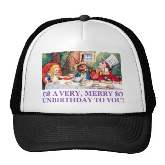 MAD HATTER WISHES ALICE A VERY MERRY UNBIRTHDAY! CAP