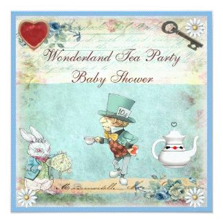 Mad Hatter Wonderland Tea Party Baby Shower Card