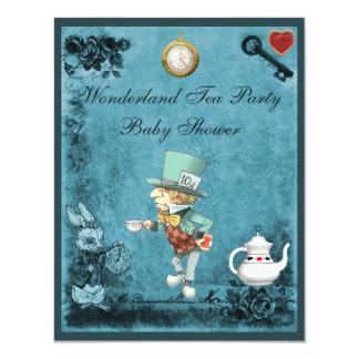 Mad Hatter Wonderland Tea Party Baby Shower Custom Invite