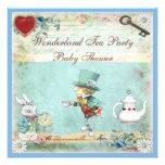 Mad Hatter Wonderland Tea Party Baby Shower Custom Invitations