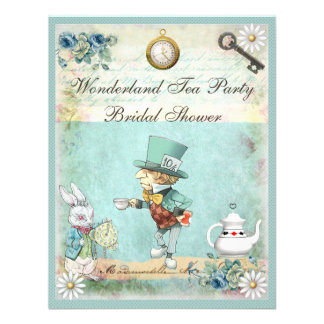 Mad Hatter Wonderland Tea Party Bridal Shower Personalized Invites