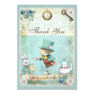 Mad Hatter Wonderland Wedding Thank You 9 Cm X 13 Cm Invitation Card