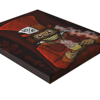 Mad Hatter Wrapped Canvas