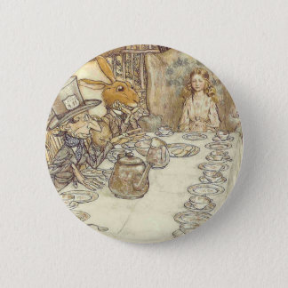 Mad Hatters Tea Party 6 Cm Round Badge