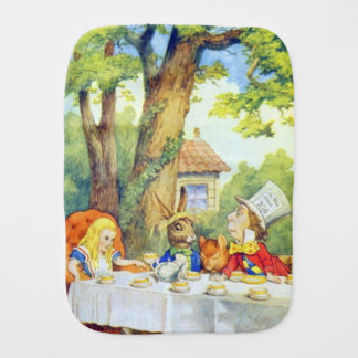 Mad Hatters Tea Party Color Burp Cloth