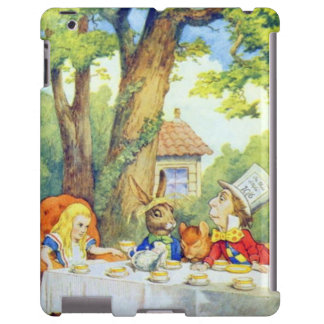 Mad Hatters Tea Party Color iPad Case