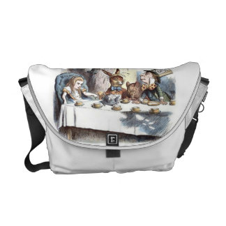 Mad Hatters Tea Party in Pastels Courier Bag