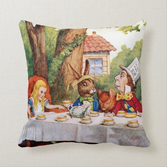Mad Hatter's Tea Party in Wonderland Cushion