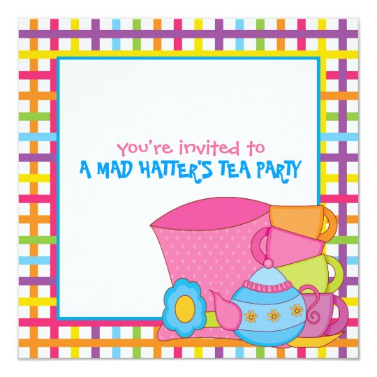 Mad Hatter's Tea Party Invitations
