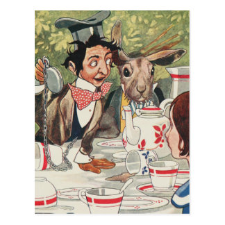 Mad Hatters Tea Party Postcard