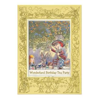 Mad Hatter's Wonderland Birthday Tea Party Custom Announcements