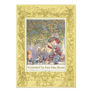 Mad Hatter's Wonderland Tea Party Baby Shower 13 Cm X 18 Cm Invitation Card