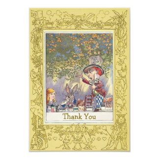 Mad Hatter's Wonderland Tea Party Thank You 9 Cm X 13 Cm Invitation Card