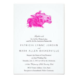 Mad Horse Head 13 Cm X 18 Cm Invitation Card