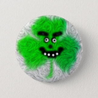 Mad Irish Shamrock 6 Cm Round Badge