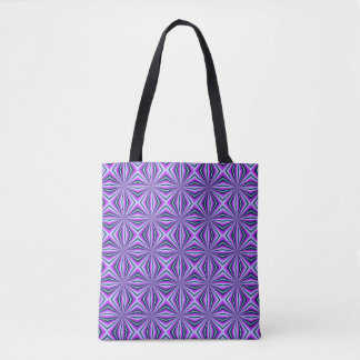 Mad Kaleidoscope Tote Bag in Pale Blue and Pink