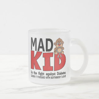 Mad Kid Diabetes Frosted Glass Coffee Mug