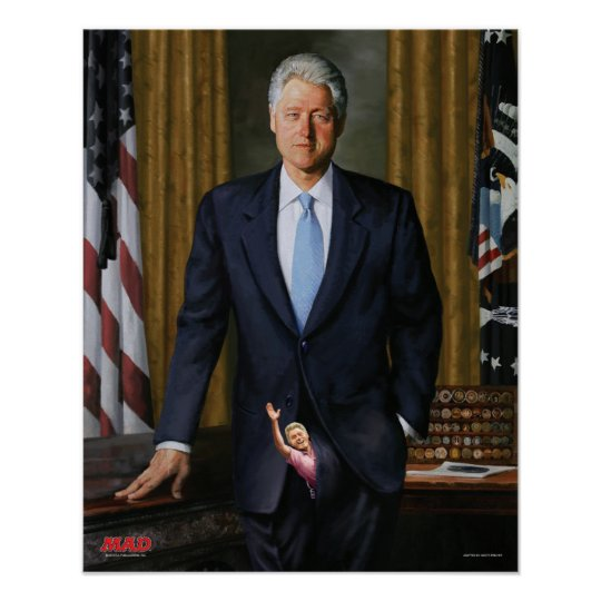 MAD Magazine's Official Portrait of Bill Clinton Poster