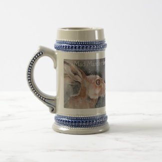 Mad March Hare. Rabbits Beer Stein