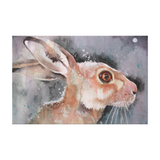Mad March Hare. Rabbits Canvas Print