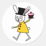 Mad March Hare Round Sticker