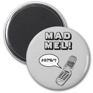 MAD MEL! - Mel Gibson 6 Cm Round Magnet