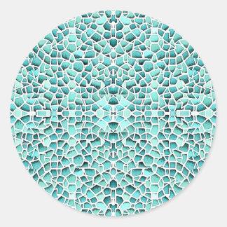 Mad Mosaic Round Sticker