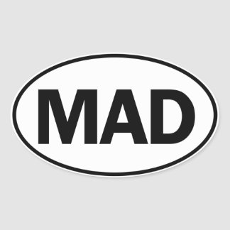 MAD Oval Identity Sign Oval Stickers