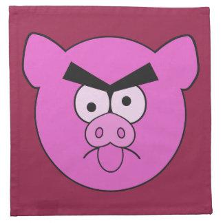 Mad Pig custom cloth napkins
