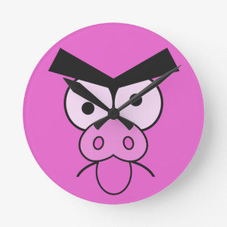 Mad Pig wall clock