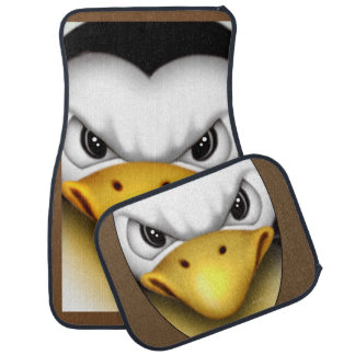 MAD PINGOUIN 2 Cartoon Car Mats Full Set (setof2)
