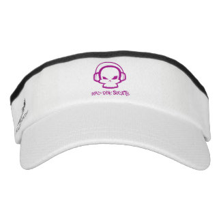 Mad Pink Society, Custom Knit Visor, White Visor