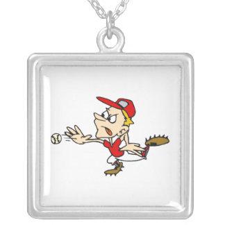 Mad Pitcher Square Pendant Necklace