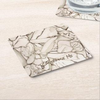 Mad Rabbit Square Paper Coaster