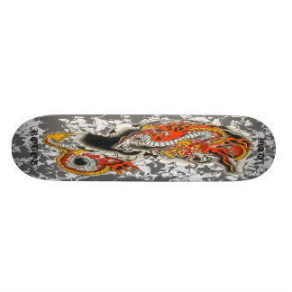 mad robot asian dragon deck custom skateboard